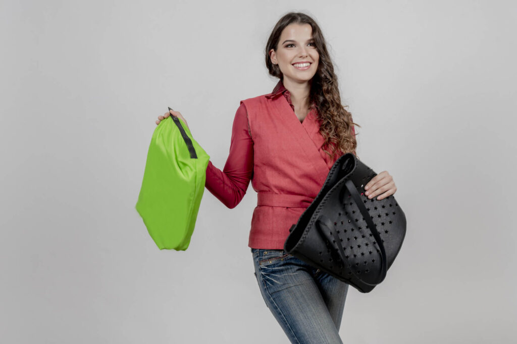 Swipe-up borse personalizzabili emozioni Made in Italy bags
